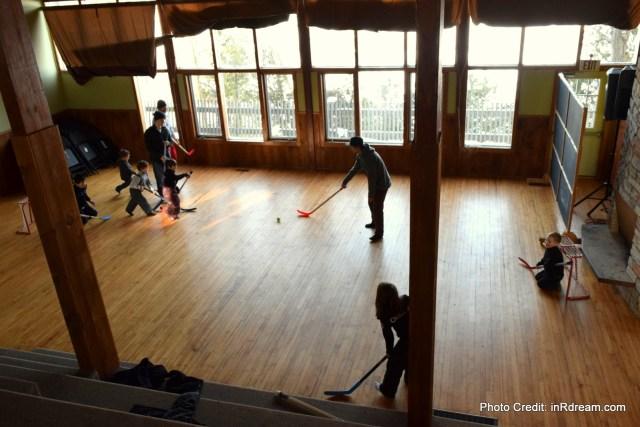 Family Day weekend 2015 Ontario Pioneer Camp. Indoor Hockey Crows Nest
