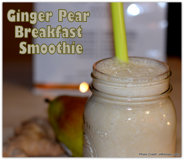 Kick Start Your Morning With A Ginger Pear Breakfast Smoothie #ONatural