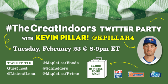 Kevin Pillar's Surprise Visit, #TheGreatIndoors, Playing sports indoors, Schneiders The Great Indoors, Toronto Blue Jays Kevin Pillar