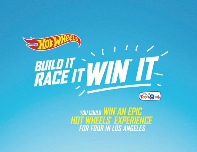 Hot Wheels® Build It, Race It, Win It Contest, Hot Wheels Contest, Hot Wheels Canada, Build It and Win, Toys R Us Canada Contest,