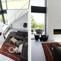 Snygg minimalistisk eldstad