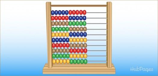 Belajar sempoa dasar Gambar 2. Ilustrasi sempoa klasik warna warni.