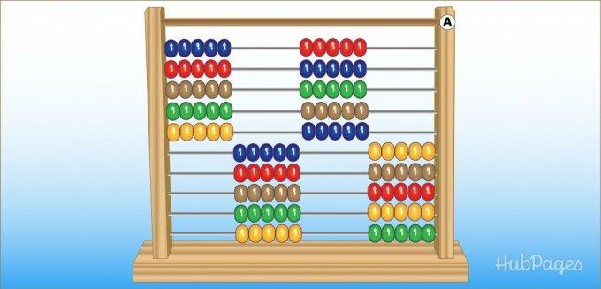 Belajar sempoa dasar Gambar 6. Ilustrasi sempoa klasik. Ilustrasi menghitung uang dengan sempoa
