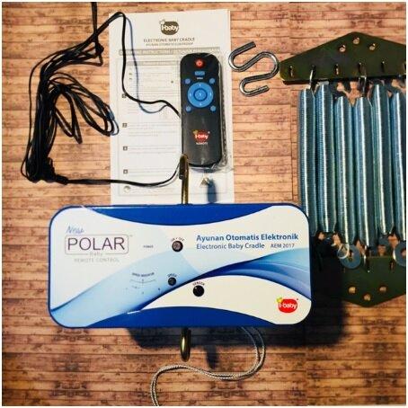 Ayunan Bayi Besi Elektrik, Listrik, Otomatis dengan Remote Control merk Polar