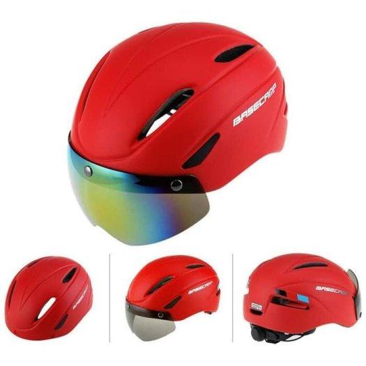 Helm sepeda Basecamp Zoom Cycling merah