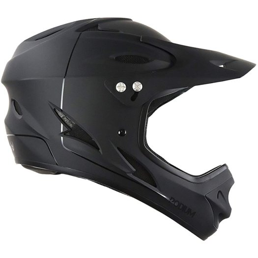 Helm sepeda Demon Podium Full-Face MTB Helmet hitam dof
