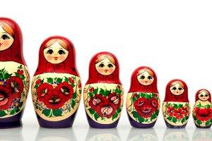 Mainan boneka Rusia Matryoshka