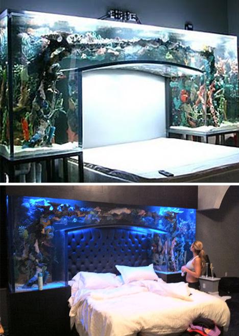 Aquarium kamar tidur unik