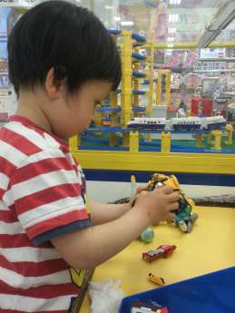 Free play area tomica plarail