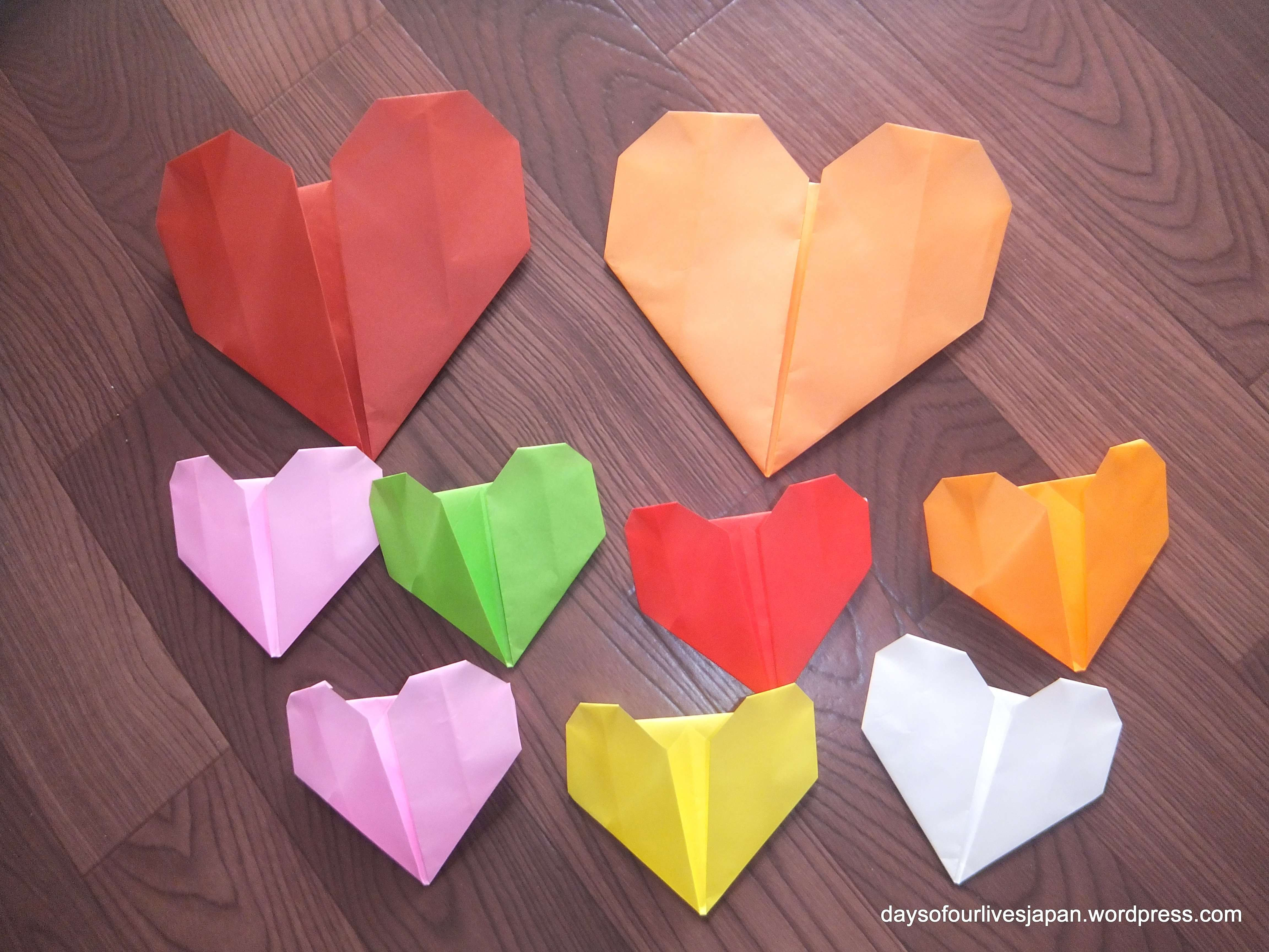 These Simple Origami Hearts Suited To Young Children And Beginners Were A Big Hit With My Toddler Preschooler Today