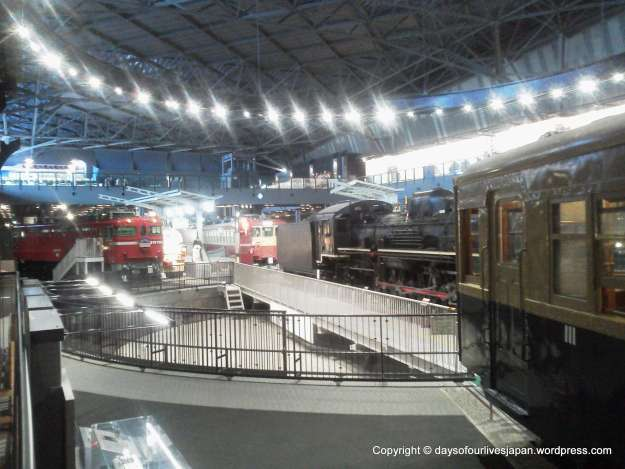 Trains in the history zone