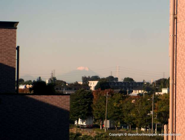 View of Mt Fuji 160km away from maternity hospital