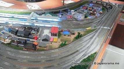 Realistic model railway town