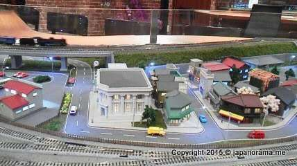 Very detailed model railway town