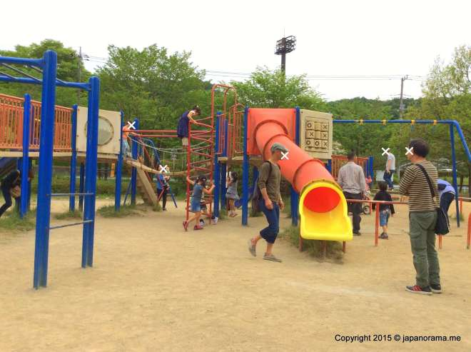 Combination Play equipment at Asu Park Hanno