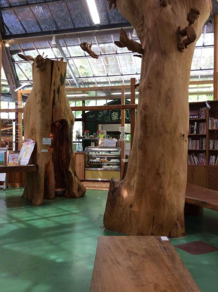 Yasai Shokudo Rafu book cafe in Tokinosumika