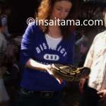 Holding a snake in the pet corner of Saitama Children's Zoo
