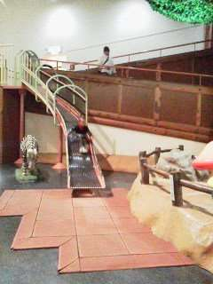 Slide in the children's castle at Saitama Children's zoo