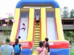shinrin park outdoor park inflated slide