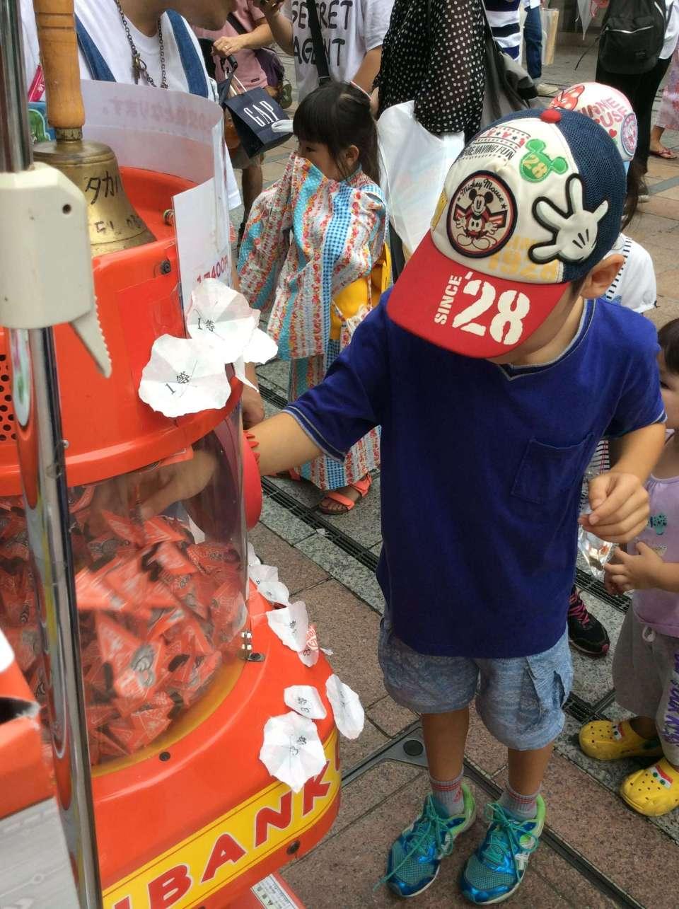 Kujibiki at Kawagoe Summer Festival Maruhiro