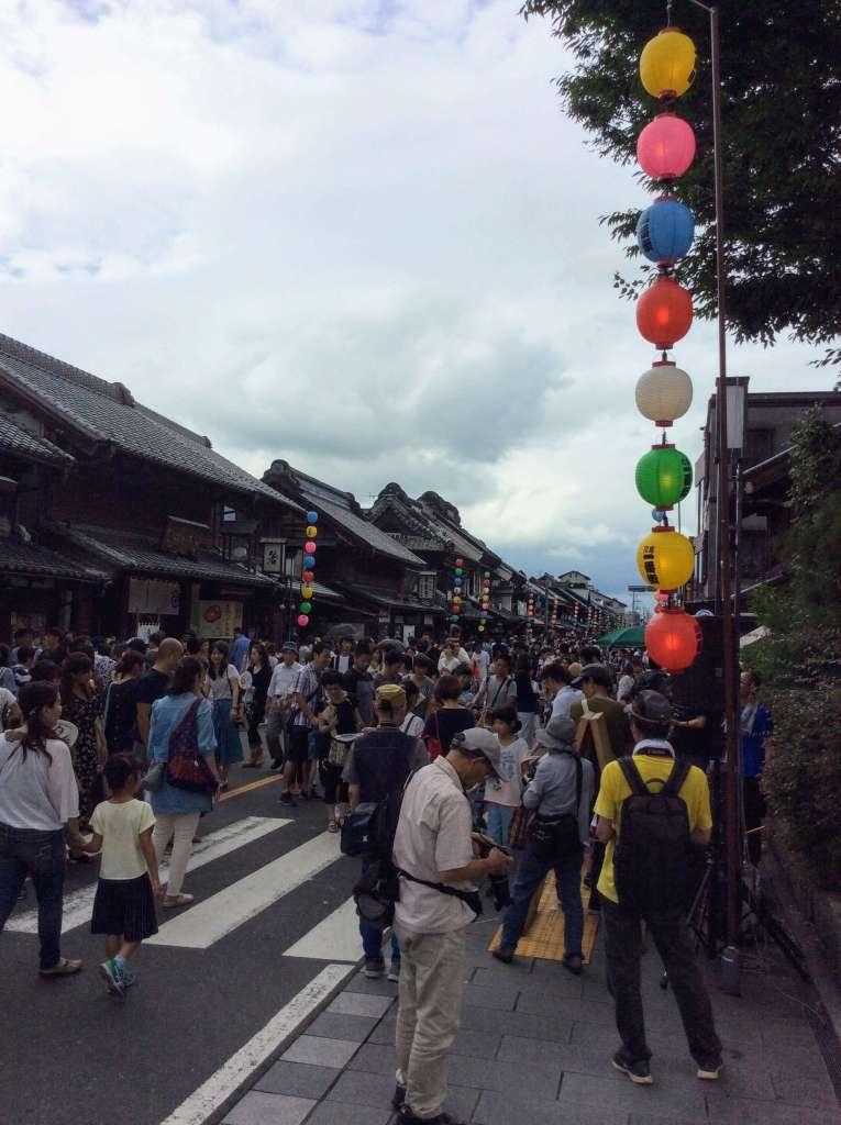 Ichibangai pedestrianized for the Kawagoe summer festival