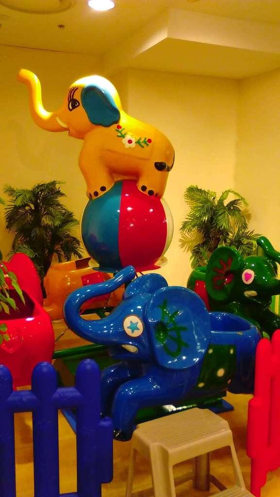 Elephant merry go round at kid's us land kawagoe