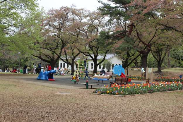 Small playground at Inariyama Park Railway Exhibit