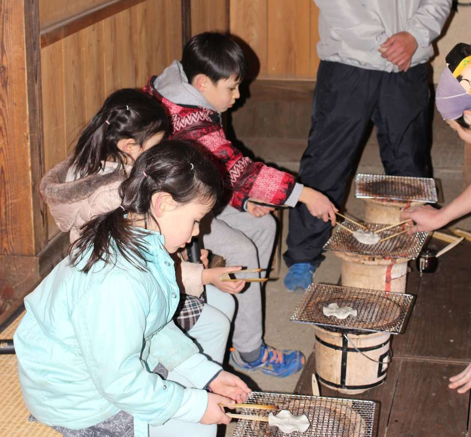 Making Sembei at Edo Wonderland