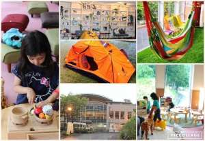 Baths and play area in glampsite You Park | OGOSE