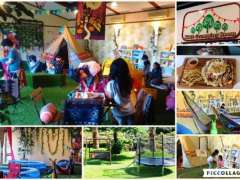 Kids glamping room and garden play at The Garden Cafe Hotel Shiunkaku collage
