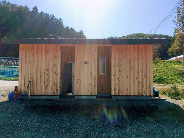 Toilets and indoor sinks at Akari Campsite