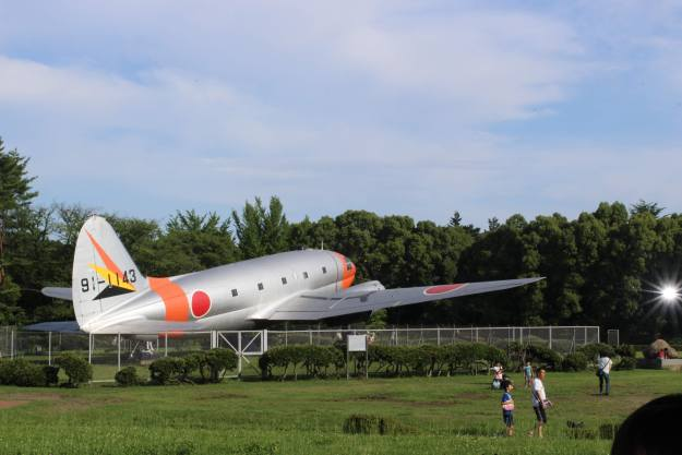Airplane out the front of the Tokorozawa Aviation Museum