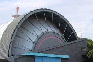 Hangar shaped design of the Tokorozawa Aviation Museum
