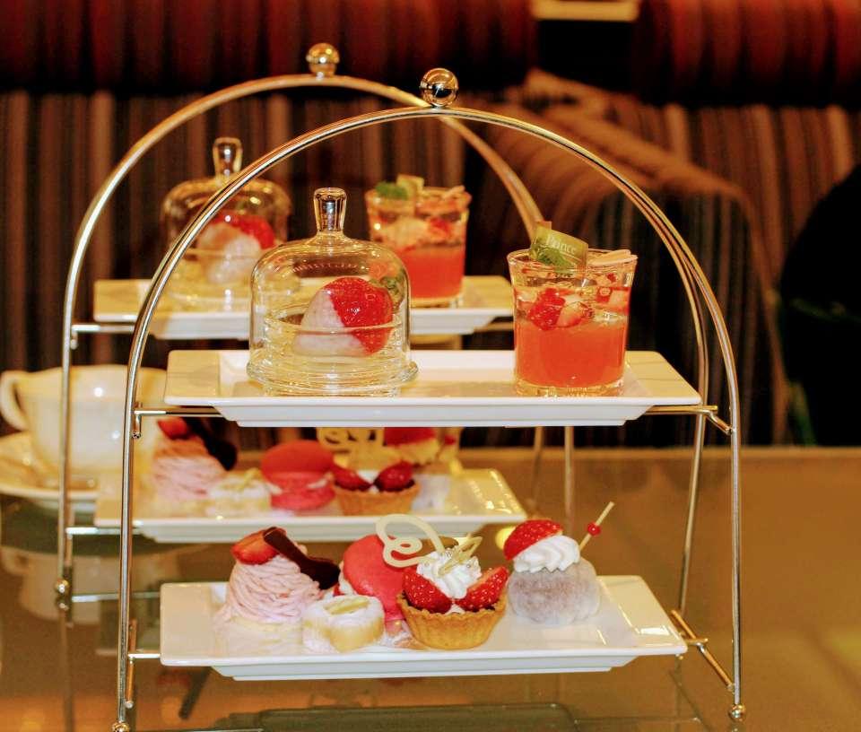 Strawberry selection afternoon tea kawagoe prince hotel