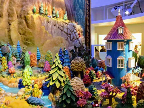 The Moomin Valley Diorama at Kokemus Exhibition space Metsa Hanno Saitama Saitama with kids