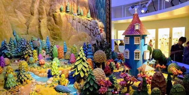 The Moomin Valley Diorama at Kokemus Exhibition space Metsa Hanno Saitama Saitama with kids