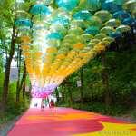 Metsa Village umbrella sky Japan's largest umbrella art installation Things to do in Saitama