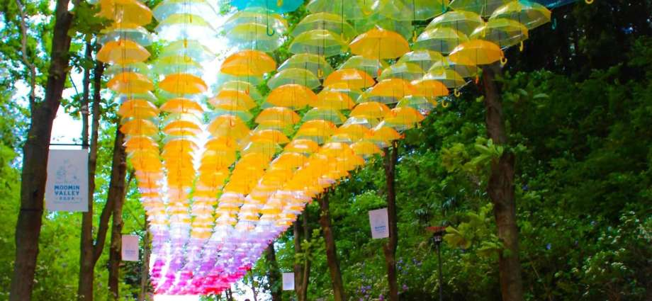 Metsa Village umbrella sky Japan's largest umbrella art installation Things to do in Saitama
