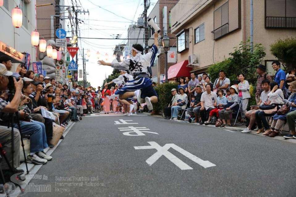 Kita Urawa Awa Odori dancers from the official Saitama Tourism and International Relations Bureau