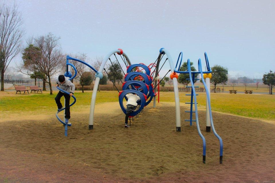 Hanyu Suigo Park unusual playground equipment
