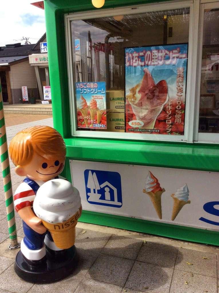 Roadside Station Ichigo no Sato Ice-cream