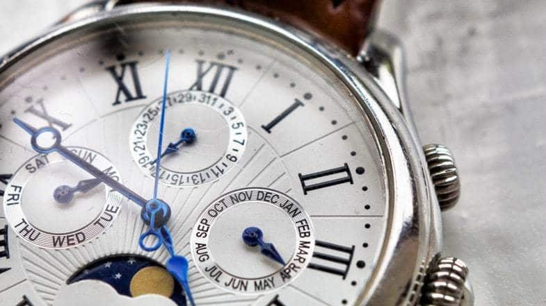 clock showing time