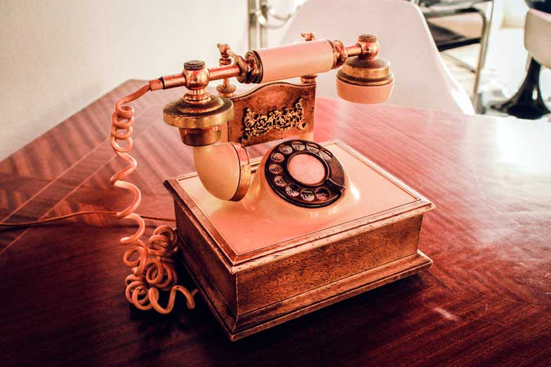 a telephone from the past