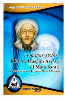 Cover Buku Hadratus Syeikh  KH.  M. Hasyim  Asy'ari  di Mata Santri