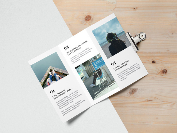 75 Free PSD Magazine Book Cover & Brochure Mock Ups