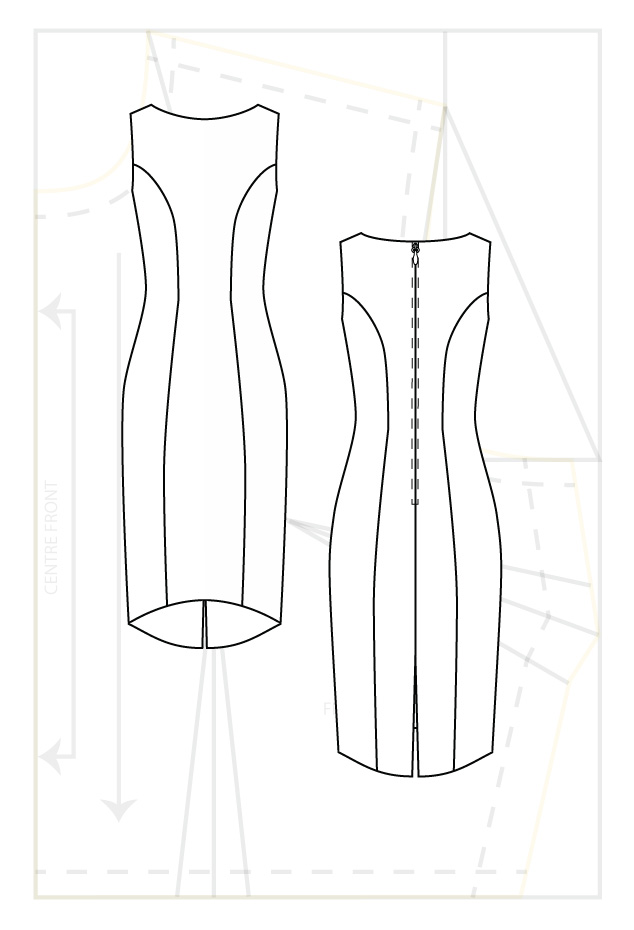 Darting question on bodice of wedding dress : sewing
