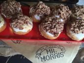 Chasing Mr Morris doughnuts