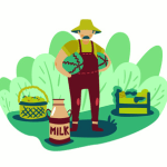 An animated Inseco Farmer