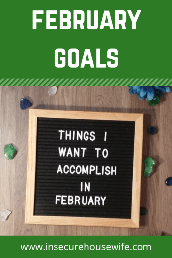 Setting monthly goals can help you keep organized and achieve your long-term goals over time. Here are the goals I have set for myself for February.