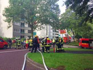 Brand am Eichendorffweg in Erkrath